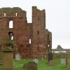 Lindisfarne Priory and Castle.