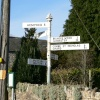 This sign post is in the village of Churchingford in the Blackdown hills, Somerset.