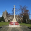 War Memorial and Church, in the market town of Tring, Hertfordshire