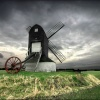 Pitstone Windmill, Buckinghamshire, in winter.