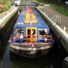 Canal boats at Dobbs wier, Hoddesdon, Hertfordshire
