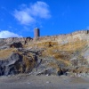 The historic Light house tower (The Naze Tower) from the beach at Walton-on-the-Naze, Essex