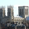 The famous view of York Minster from City Walls, York