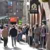 The queue at 11.45 for the Jorvik Viking Centre, York.  Get there early !