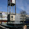 The TOWN CENTER CLOCK in STEVENAGE TOWN CENTER.