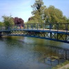 The bridge at Hilsea Moat. Taken:  12th May 2006