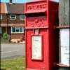A post mounted George VI postbox, Moor Lane, Martin, Lincolnshire.