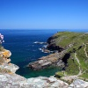 View from Tintagel Castle, Tintagel in Cornwall