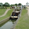 Foxton Locks, Near Market Harborough, 'Narrow Boat coming down'