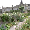 Gardens of Haddon Hall, Bakewell, Derbyshire.