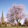 Taken in the Hall Yard Park looking towards St Simon & St Judes Parish Church, Earl Shilton