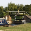 Lock joining the Oxford Canal with the River Cherwell at Shipton-on-Cherwell, Oxon.