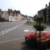 Earls Colne, Essex.  High Street viewed from the corner of Massingham Drive