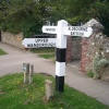 Swindon Borough Council guidepost at Lower Wanborough, Wiltshire