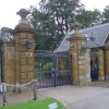 The gate of Althorp House near Northampton, Northamptonshire