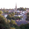 Ross-on-Wye viewed from Vaga Crescent.