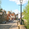 Bridge St view from the Abingdon Bridge, Abingdon, Oxfordshire. -