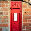 A wall mounted George V postbox, Brant Broughton, Lincolnshire.