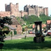 Bamburgh Village and Castle, Bamburgh, Northumberland.