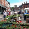 Market day in Ashbourne, Derbyshire.