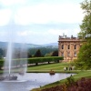 The fountain in the grounds of Chatsworth House, Bakewell, Derbyshire.