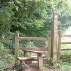 Stile on the path to Glastonbury Tor, Somerset