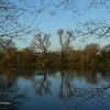 London River Thames, Leg o' Mutton Nature Reserve, Barnes, in early winter light.