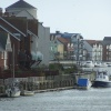 The east bank of the river Arun in Littlehampton, West Sussex. looking south. Taken 6th Jan 2007