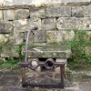 Iron Spectacle Stocks at Painswick, Gloucestershire.