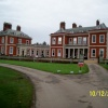 View of Fawley Court as you approach the main building. Henley on Thames, Oxfordshire