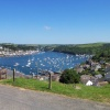 Looking over to Fowey taken from St. Saviours Hill, Polruan, Cornwall, June 2006.