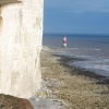 Beachy Head Lighthouse, Eastbourne, East Sussex. -