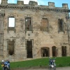 This is the front of Sutton Scarsdale Hall, Sutton Scarsdale, Derbyshire