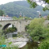 Bridge in the centre of Llangollen, North Wales