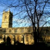 St Mary Magdalene Church, Woodstock, Oxfordshire. This is a view from the graveyard.