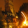 St John the Baptist Church at night, Cirencester, Gloucestershire