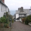 Clovelly, Devon, looking down the main street