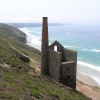 Tin mine buildings near St Agnes, Cornwall