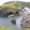 The harbour at Portloe, Cornwall. One of Cornwall's prettiest coastal villages