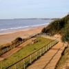 Zig Zag path leading down to Highcliffe beach, Highcliffe, Dorset -  -