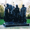 'The Burghers of Calais' statue in Westminster, London