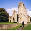 Ruins of Glastonbury Abbey' Somset.