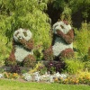 Pandas on the Malpas roundabout in Newport, South Wales in the summer of 2003.