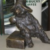 Bronze statue of Paddington Bear, Paddington railway station, central London