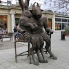 Bronze statue in the town centre, Cheltenham, Glos