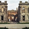 This is the front of Sutton Scaresdale Hall, Derbyshire -