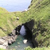 The Devil's Frying Pan, a spectacular coastal feature near Cadgwith, the Lizard, Cornwall.