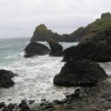 Kynance Cove, the Lizard, Cornwall, in 'British' weather, ie overcast, damp and windy.