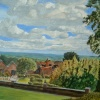 Churchill's View from Chartwell: A painting by Stanley Port.