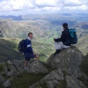 on top of crinkle crags in langdale. - English Lake District